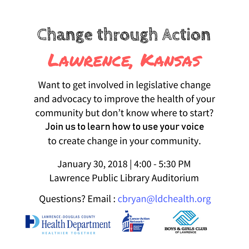 Lawrence Tobacco Policy Advocacy Training