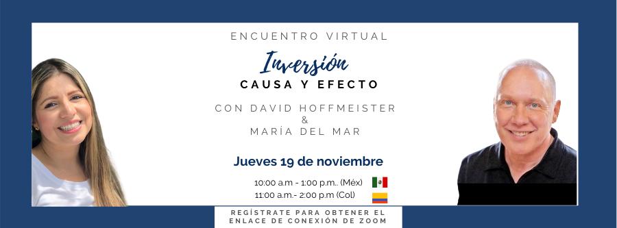 """Encuentro virtual """"Inversión de causa y efecto"""""""