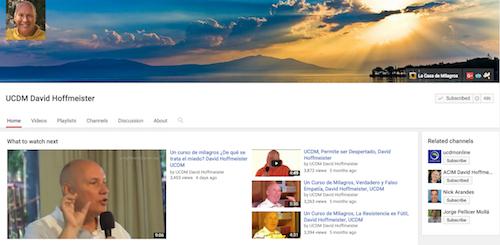 Canal de YouTube: Un Curso de Milagros - David Hoffmeister