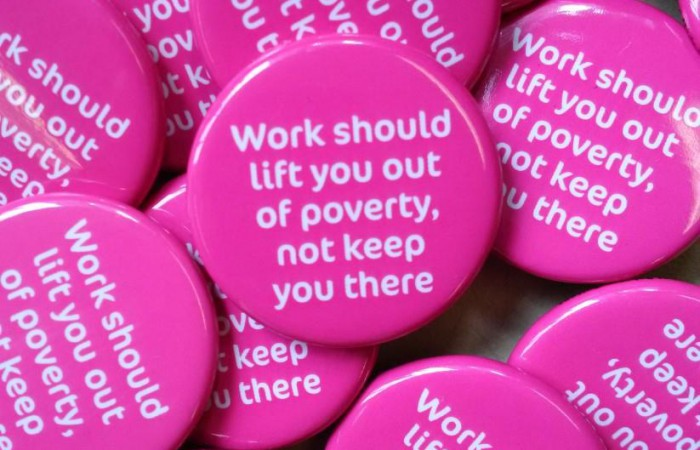 Work should life you out of poverty, not keep you there - Living Wage for Families Campaign