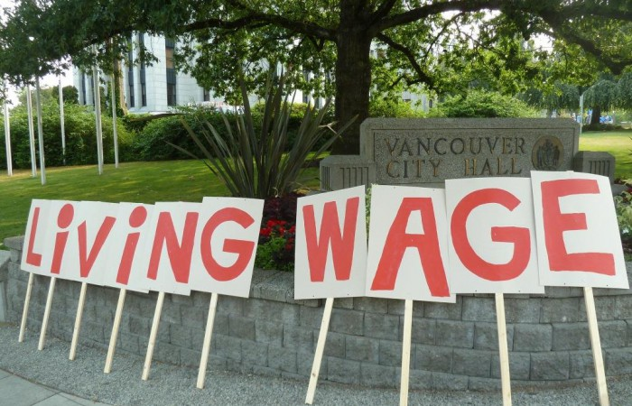 Vancouver passes motion to become a living wage city