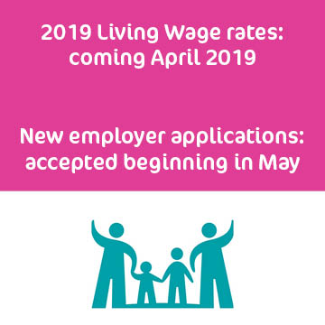 2019 Living Wage applications closed