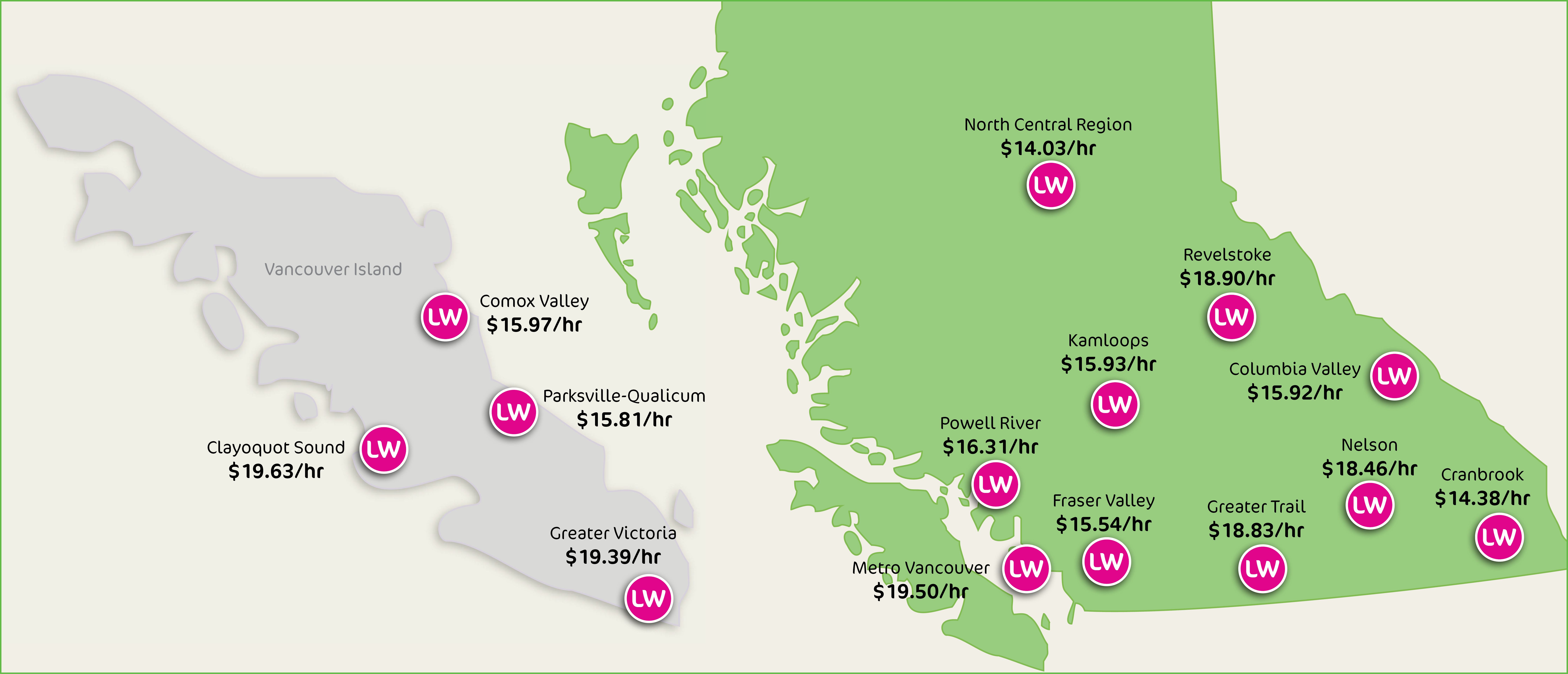 Living Wages in BC and Canada - Living Wage for Families ... on alaska map, alberta map, calgary map, london map, or map, manitoba map, india map, surrey map, british columbia map, brazil map, costa rica map, nova scotia map, maryland map, ks map, united kingdom map, hungary map, madagascar map, de map, ontario map, vancouver map,