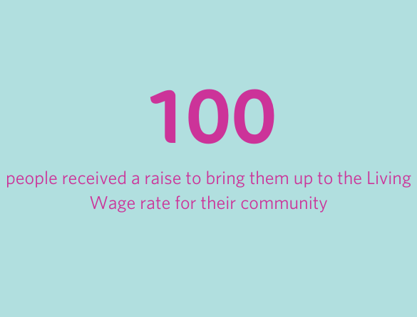 100 people received a raise