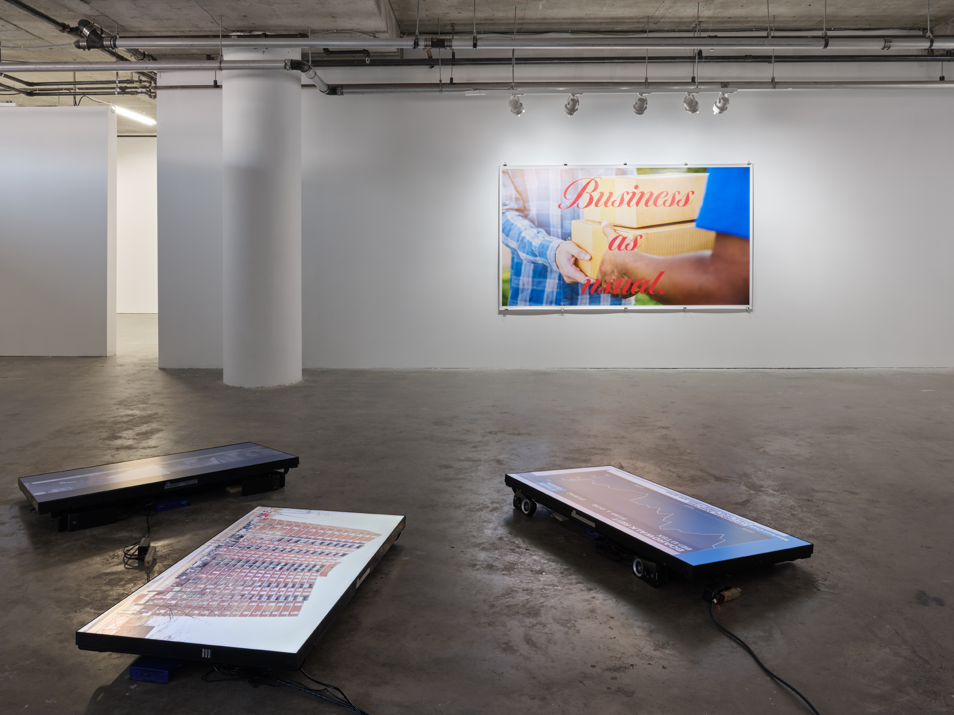 Exhibition Exclusion Acts by Will Kwan, as installed at Centre A in 2021. Photo: Rachel Topham.