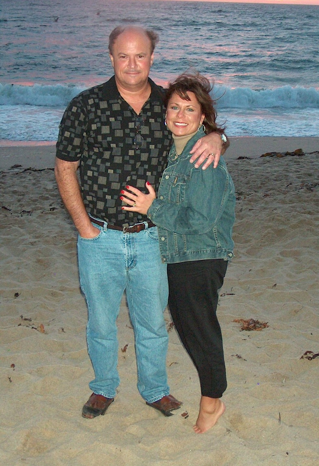 Todd and Liz on beach