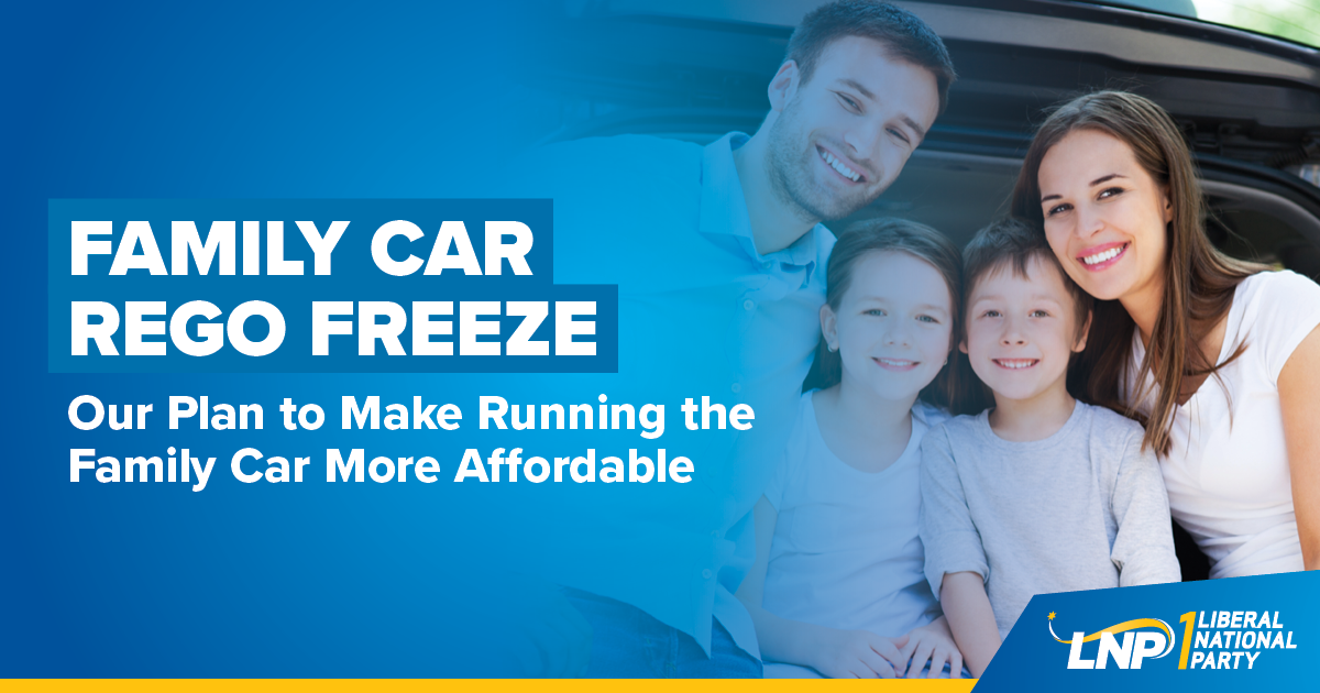 Family Car Rego Freeze Shareable
