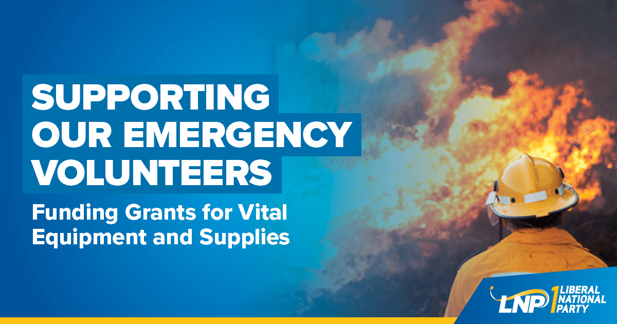 LNP to create dedicated fund for emergency volunteers Shareable