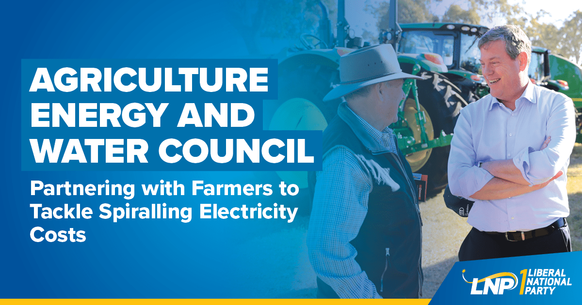 LNP to partner with farmers to tackle spiraling electricity costs Shareable