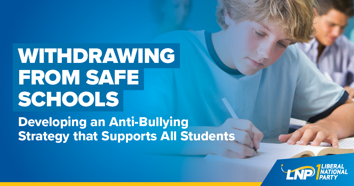 Withdrawing from Safe Schools Shareable
