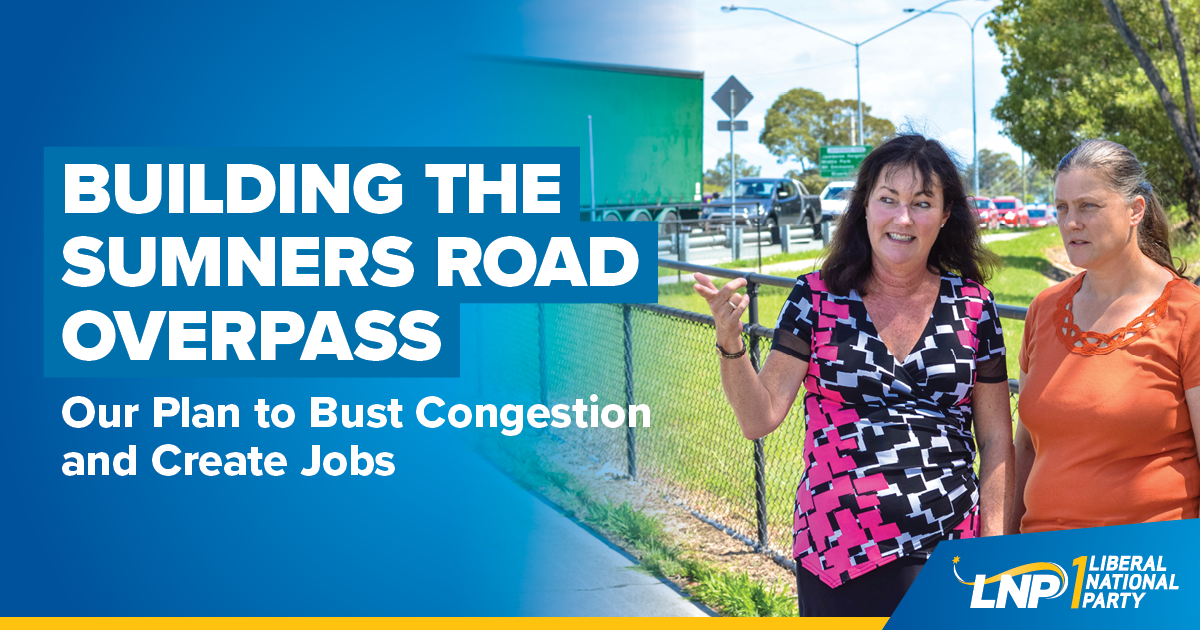 Tarnya Smith and LNP deliver for Sumners Road Shareable