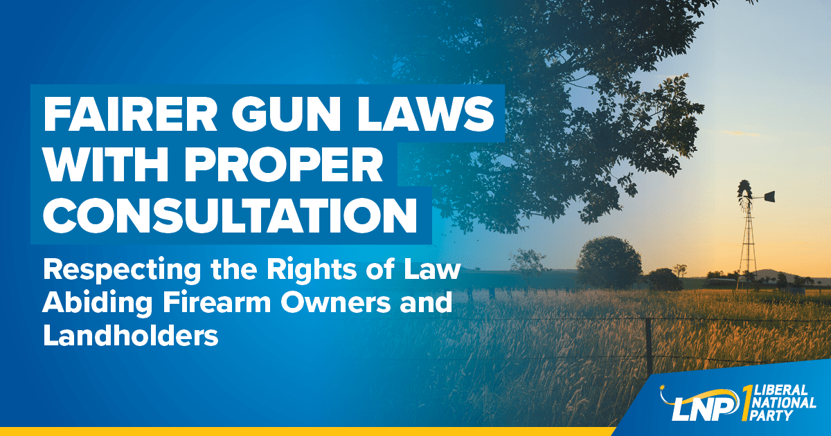 Fairer Gun Laws with Proper Consultation Shareable