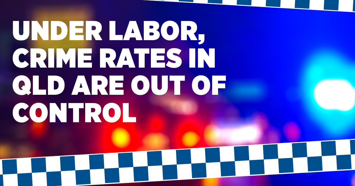 Police stats confirm crime is out of control under Labor Image