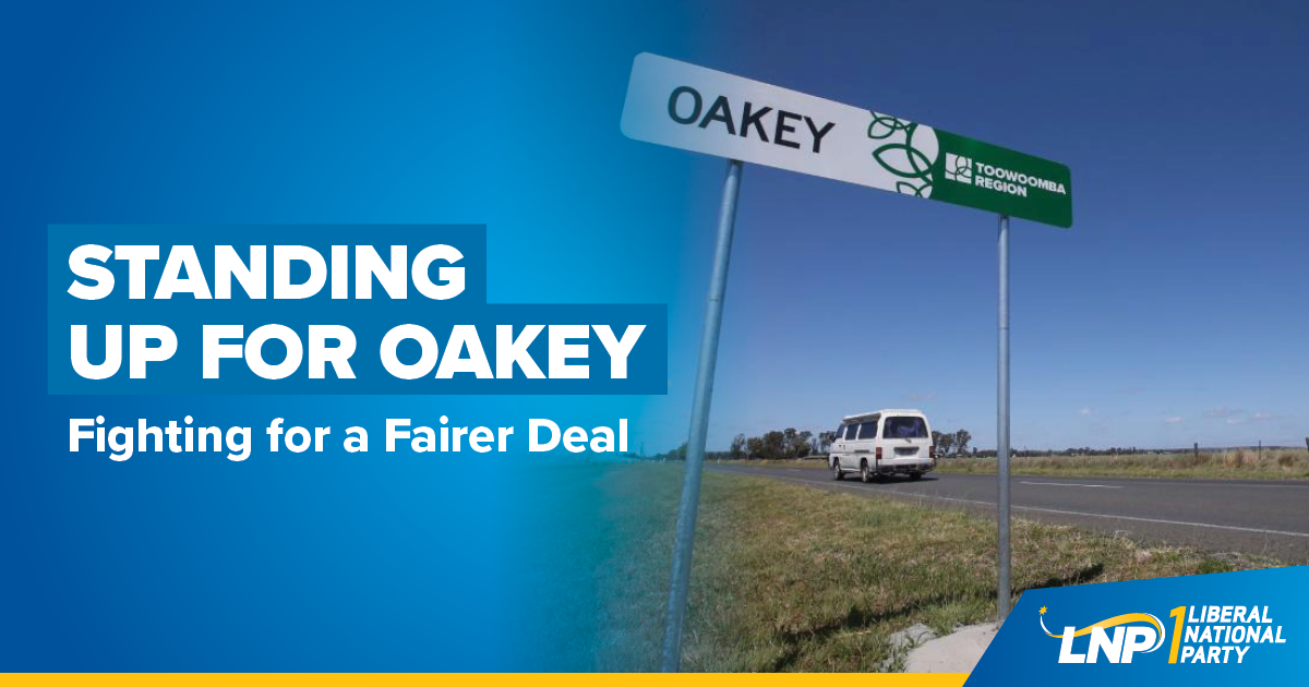 Standing Up For Oakey Shareable
