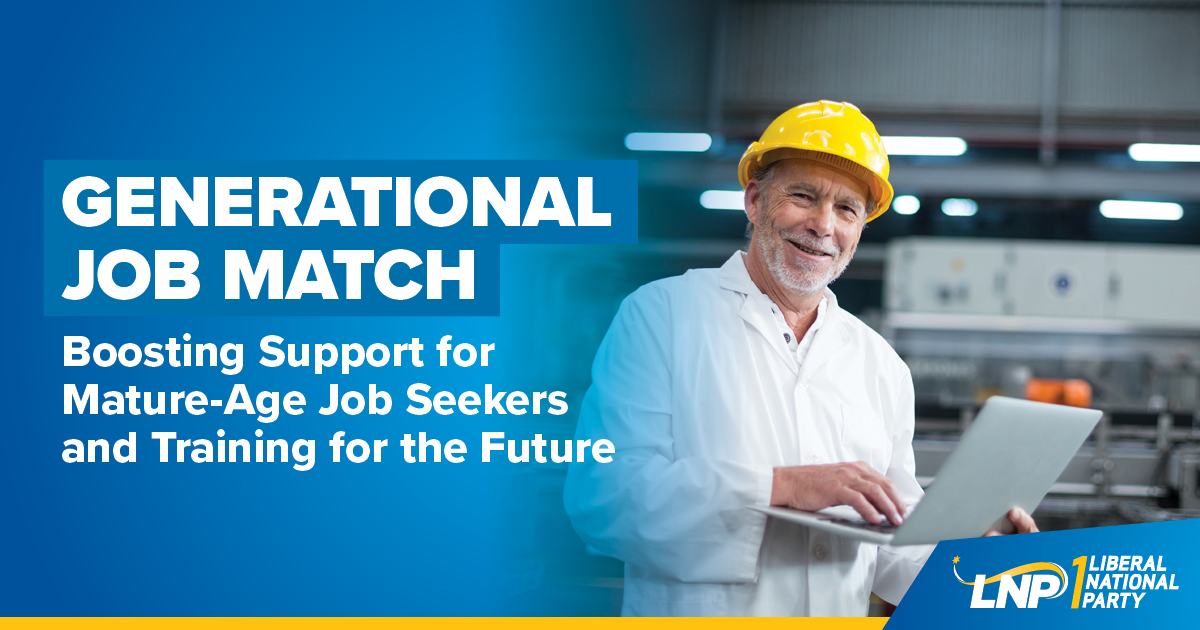 LNP to give mature-age job seekers a hand up in finding work Image