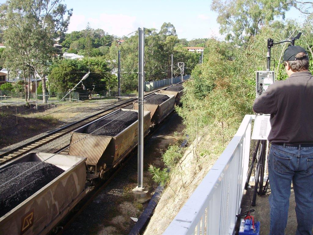 Michael Kane monitors coal dust at Fairfield