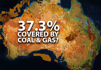 37.3% of Australia covered by coal and gas.