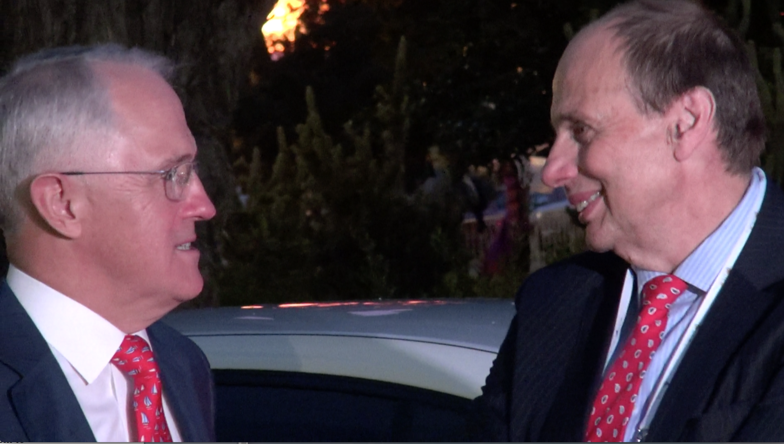 Former Origin boss Grant King (right) pictured with the PM Malcolm Turnbull in Perth last year.