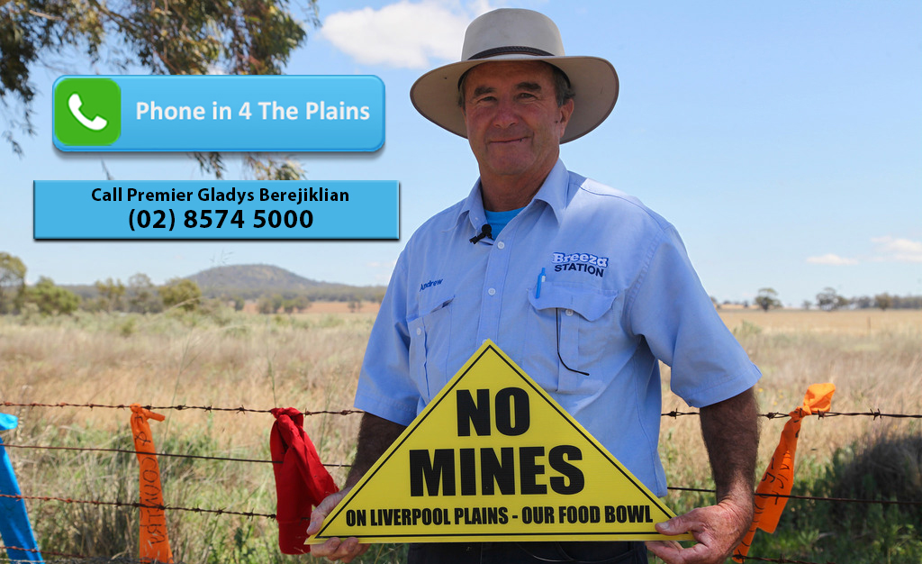 Call the Premier to protect the Plains - Lock the Gate