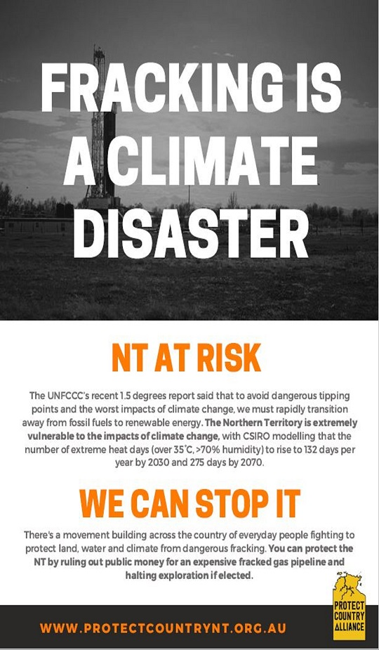 Fracking and Climate in the NT Logo