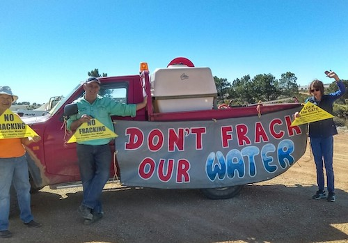 Dont frack our water - No Fracking