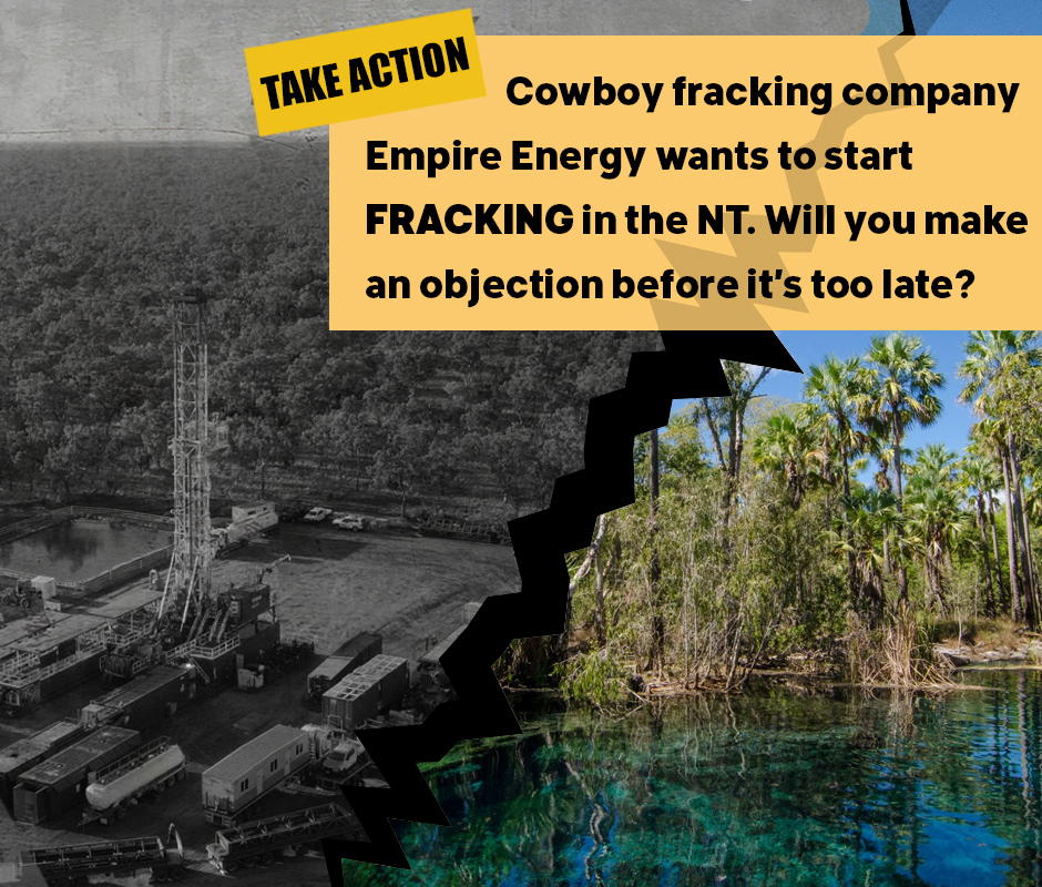 Stop the fracking vandals in the NT
