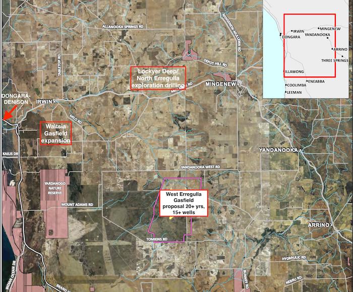 Map Mingenew Irwin Arrino