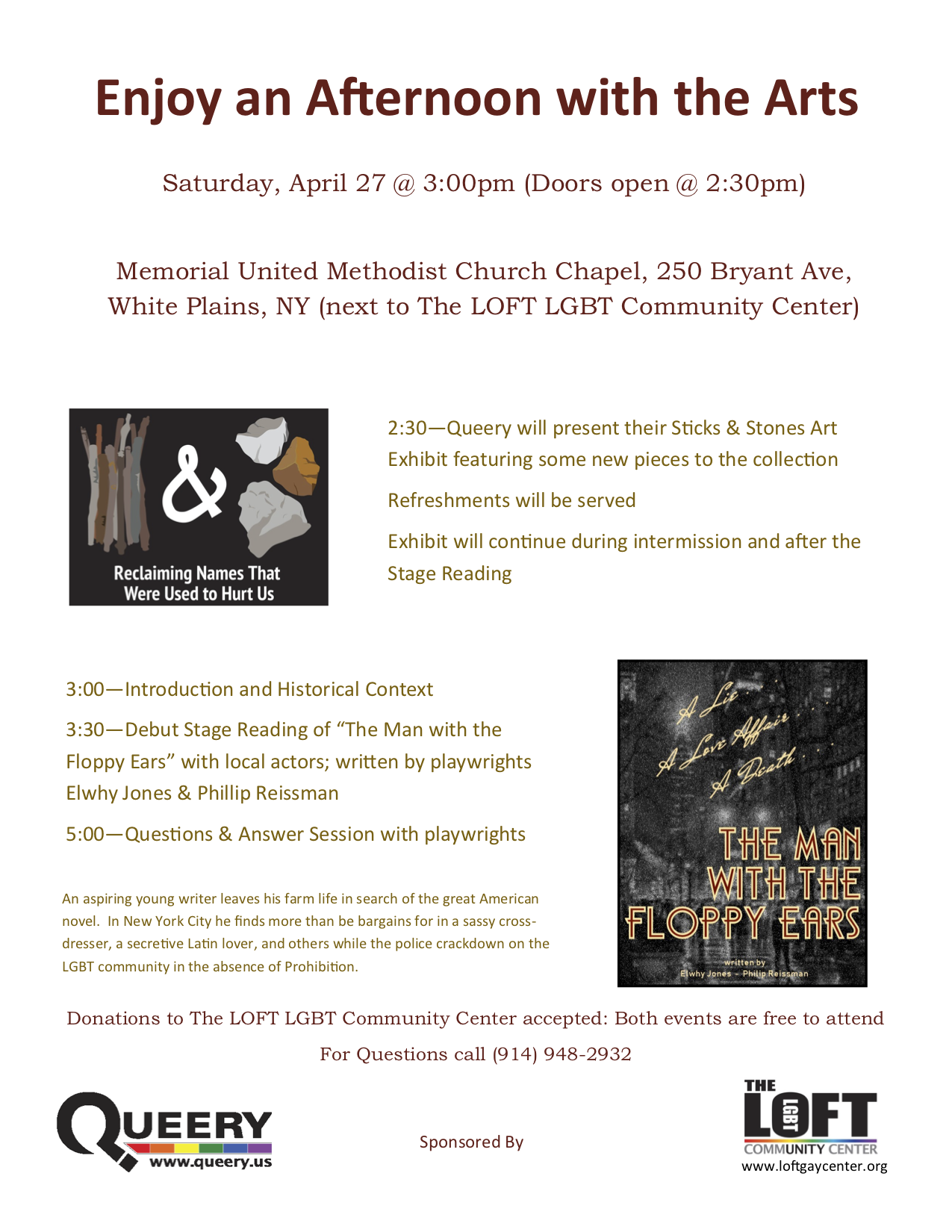 An Afternoon with the Arts - LGBTLifeWestchester org