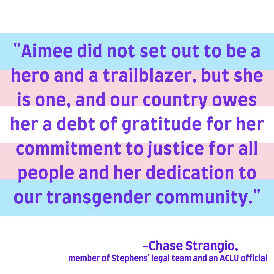 Aimee Stephens Transgender Icon