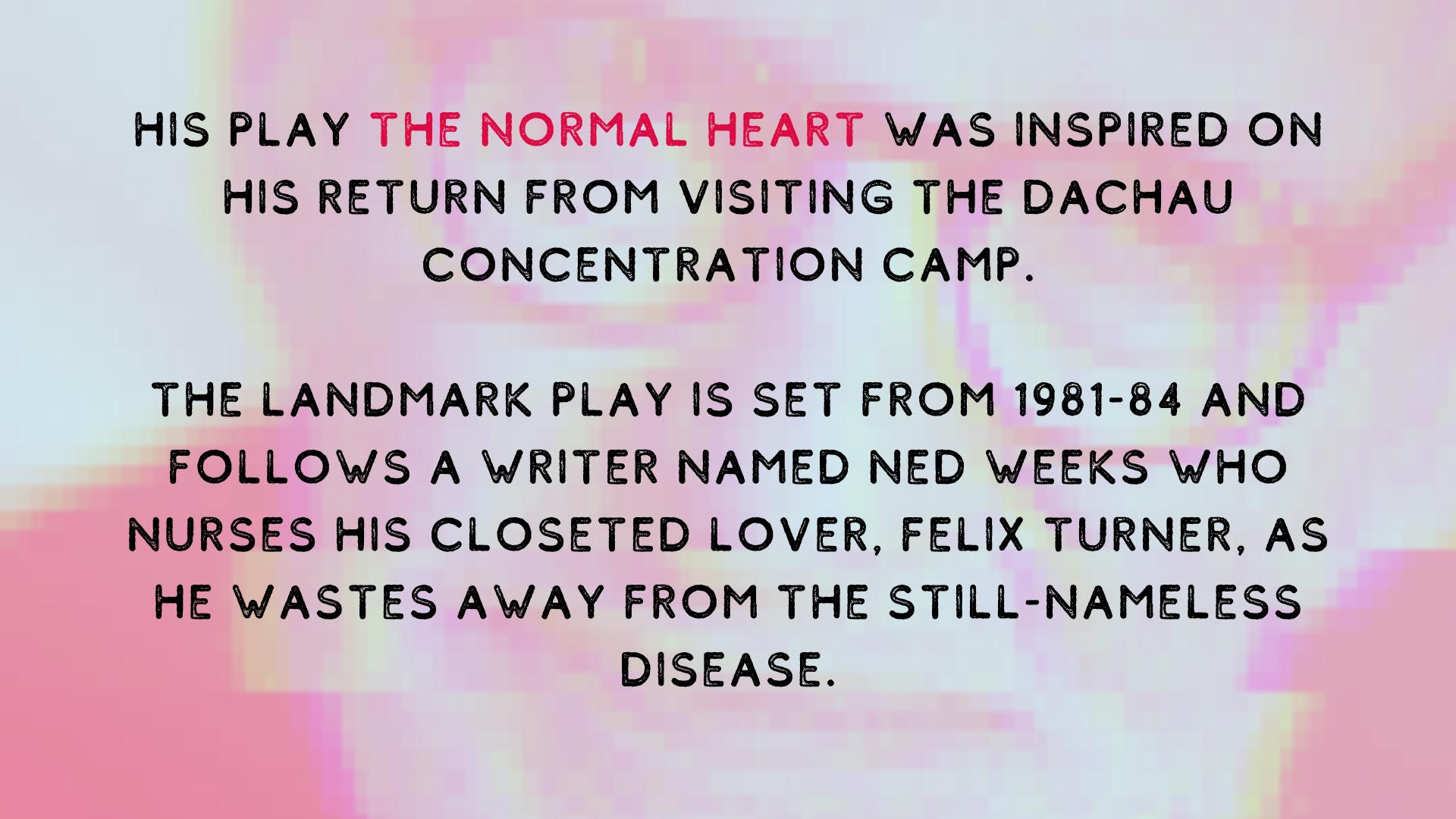 The Normal Heart Larry Kramer