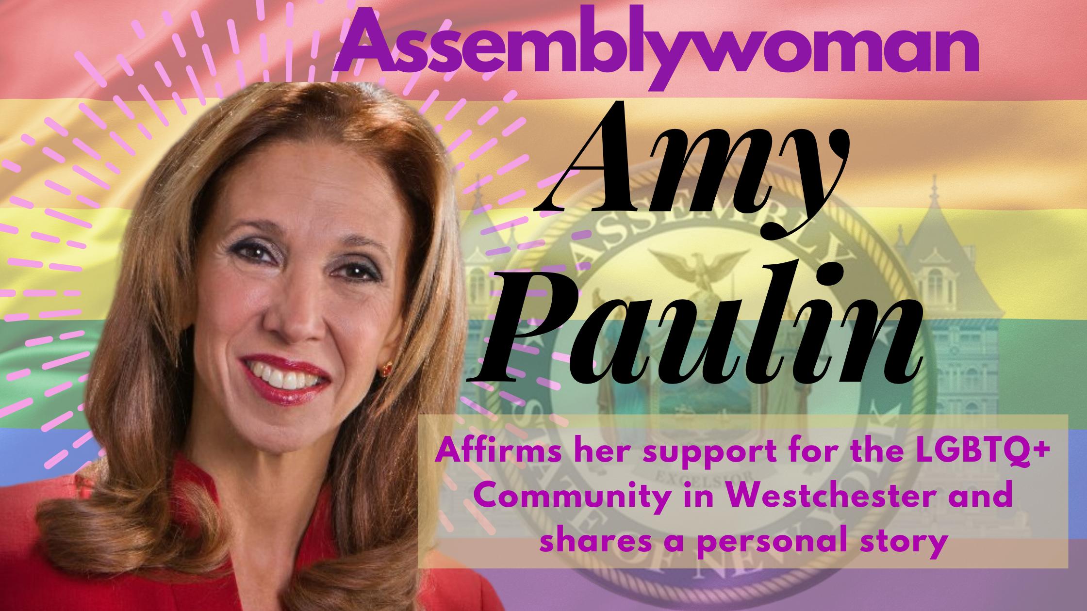 New York State Assemblywoman Amy Paulin LGBT