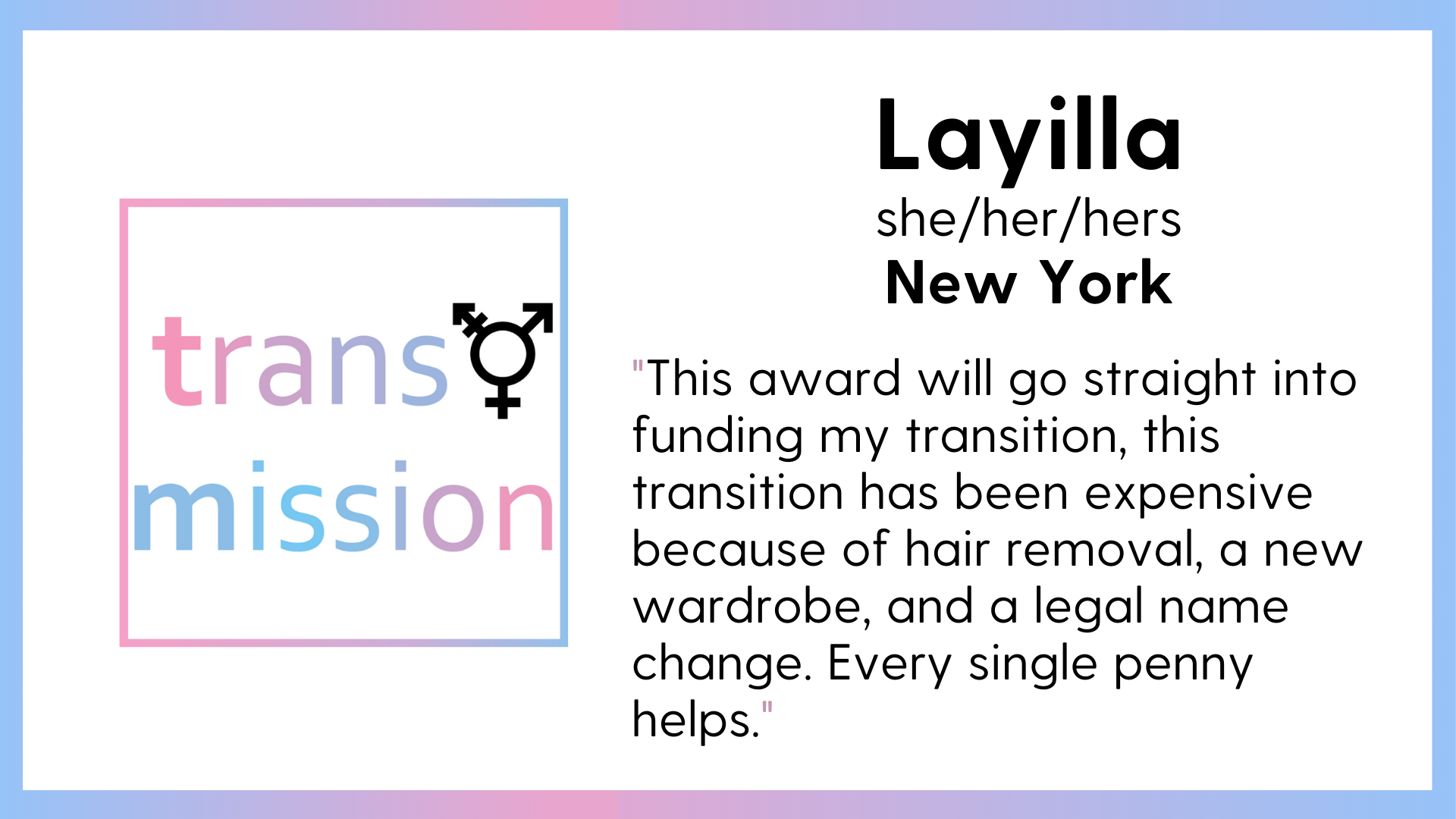 LOFT Transmission 2021 Spring Cycle Awardee Layilla