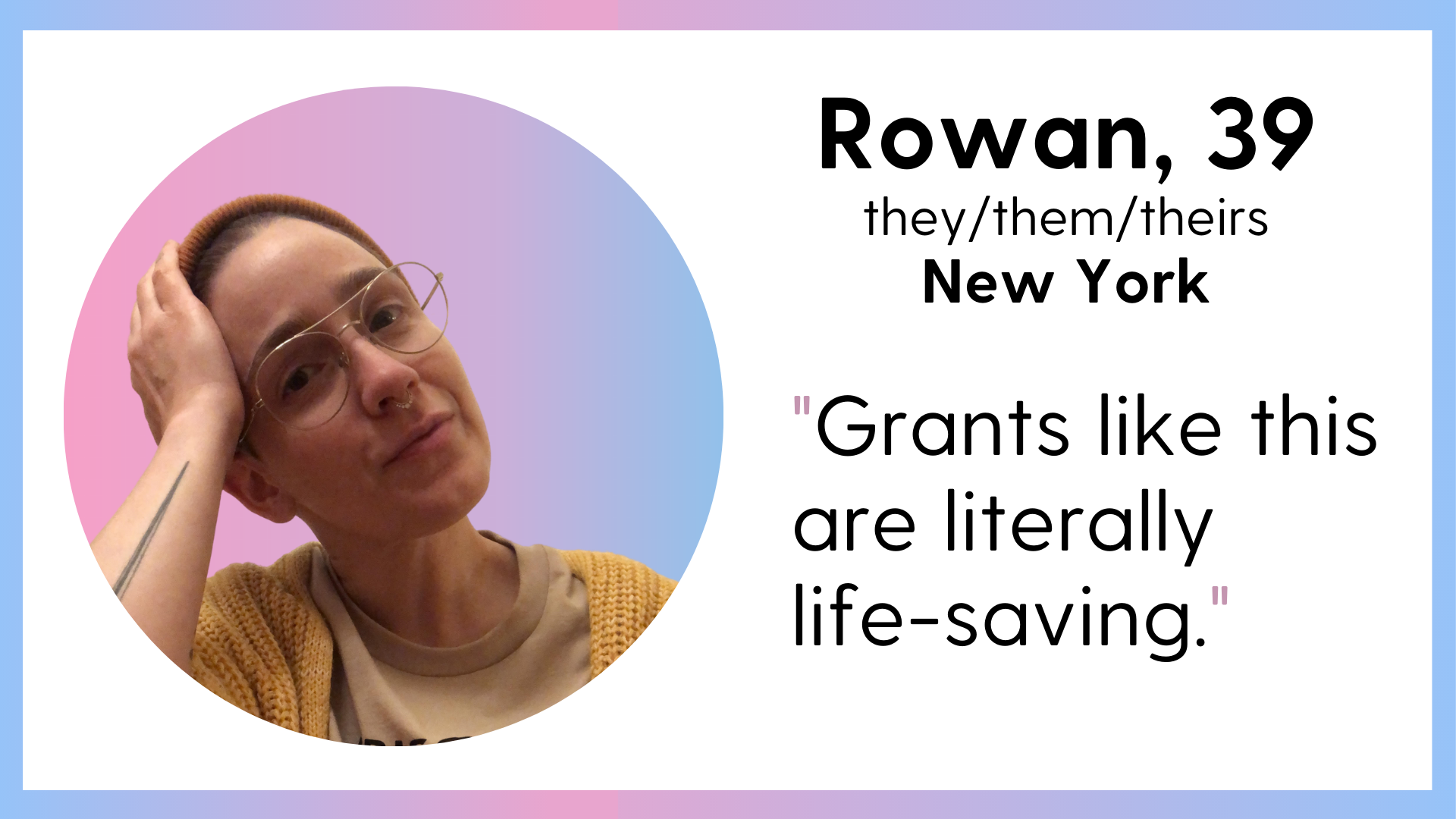 LOFT Transmission 2021 Spring cycle 1 Awardee Rowen from New York