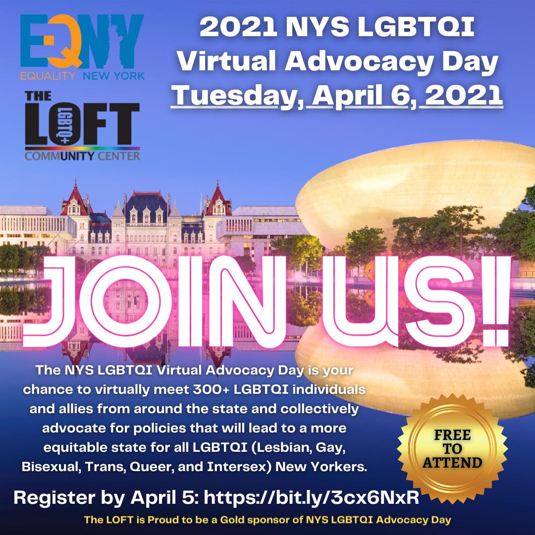 NYS LGBTQIA Advocacy Day April 6