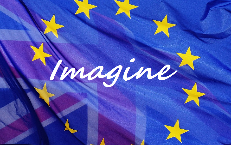 London4Europe - Imagine no Brexit poem -EU UK flag image