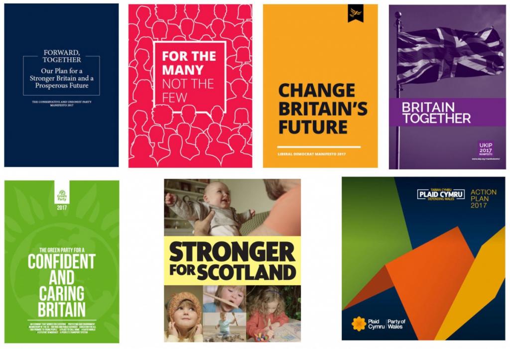 GE2017 party manifestos