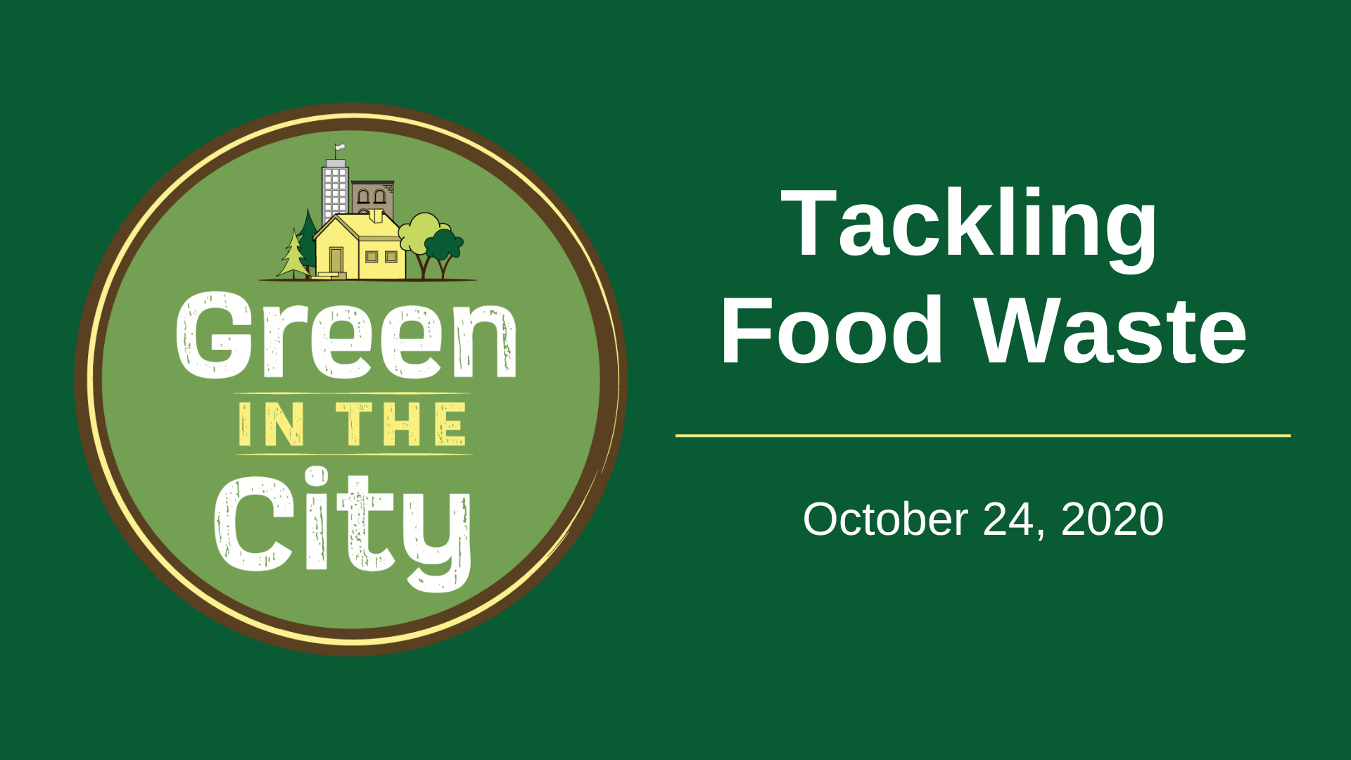 Thumbnail for Tackling Food Waste event recording