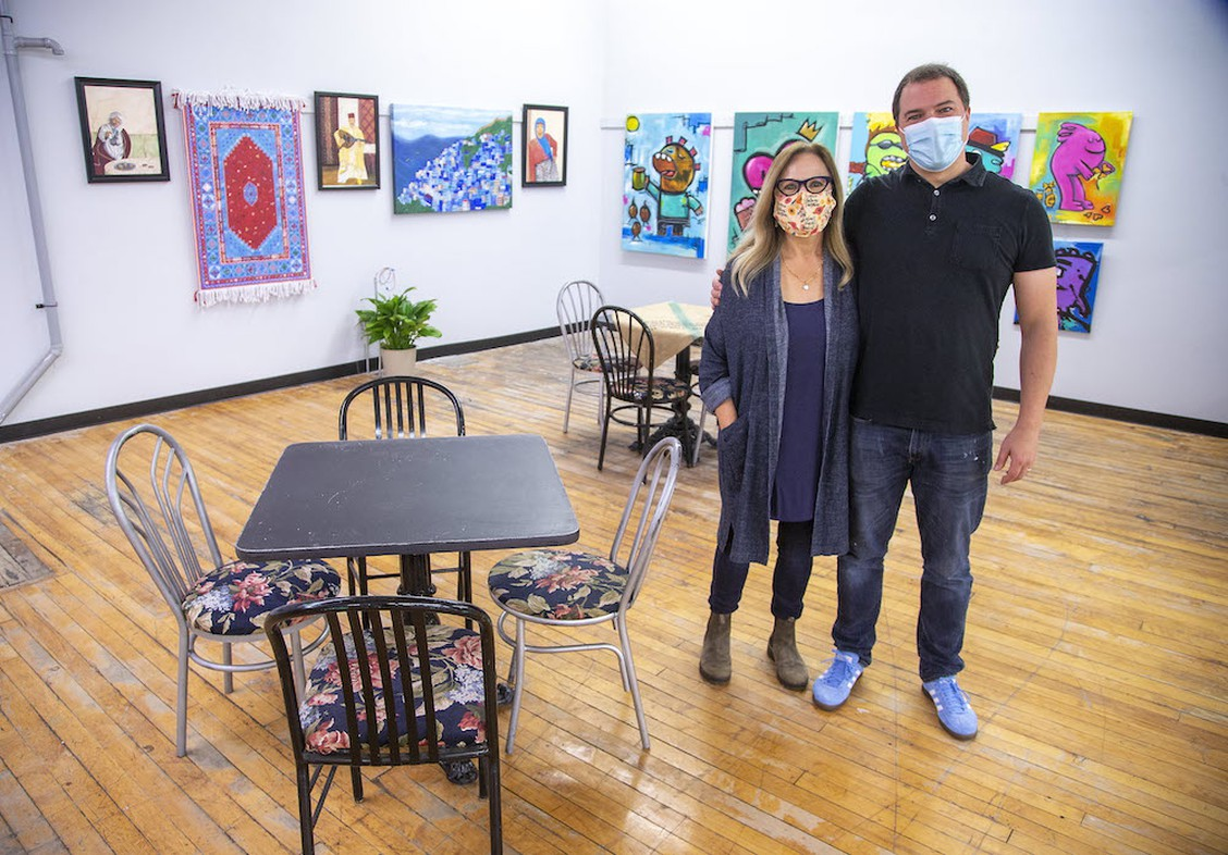 Mark and Kathy Navackas at Somerville 360