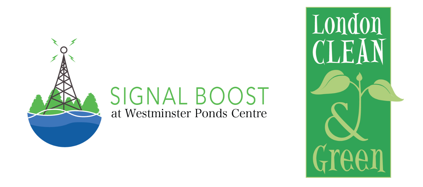 Signal Boost Initiative and London Clean & Green logos