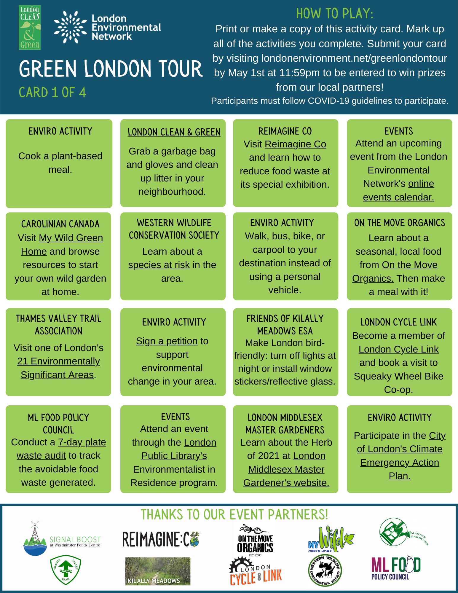 Green London Tour Card 1