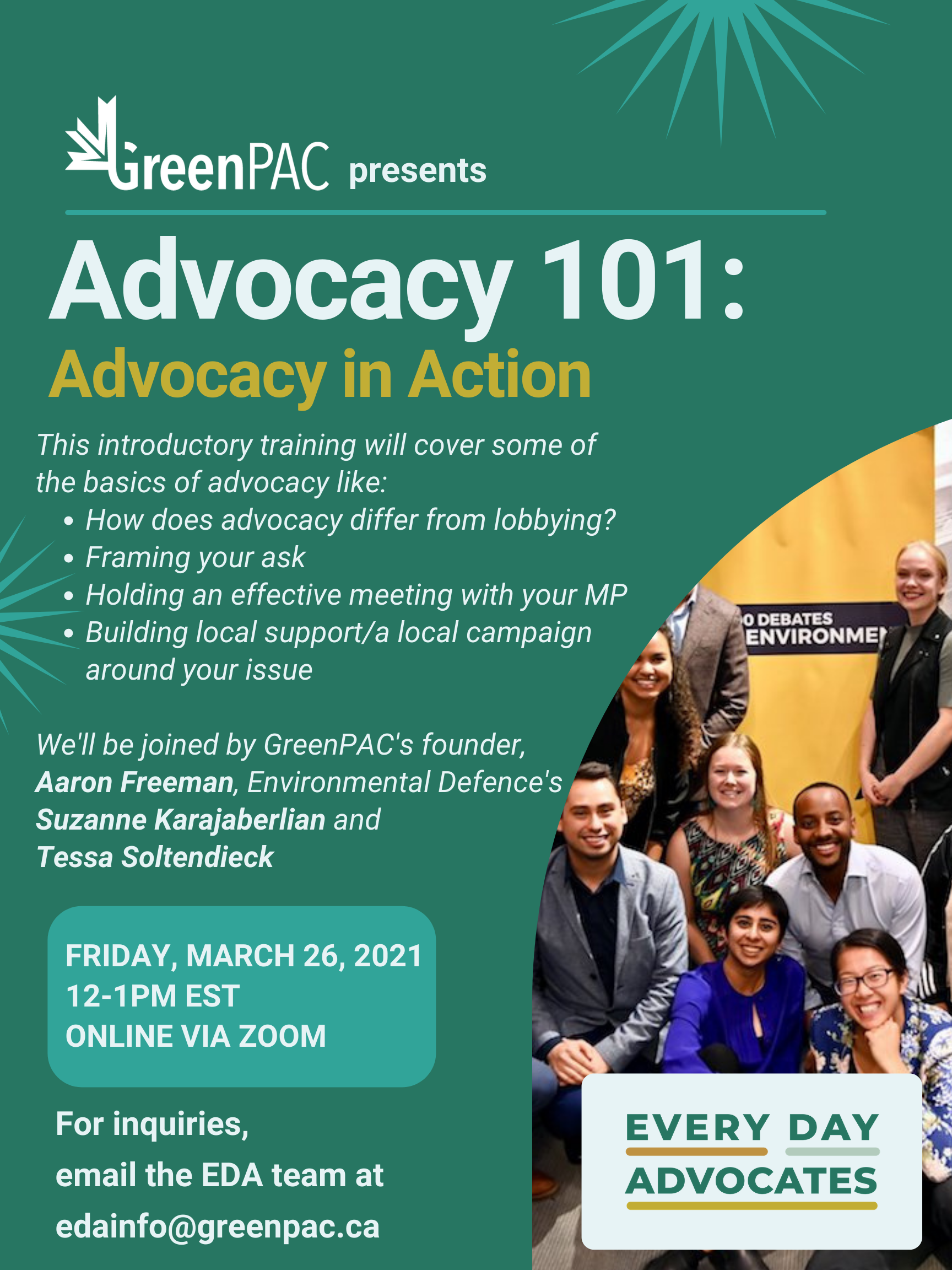 Advocacy 101 Session Poster
