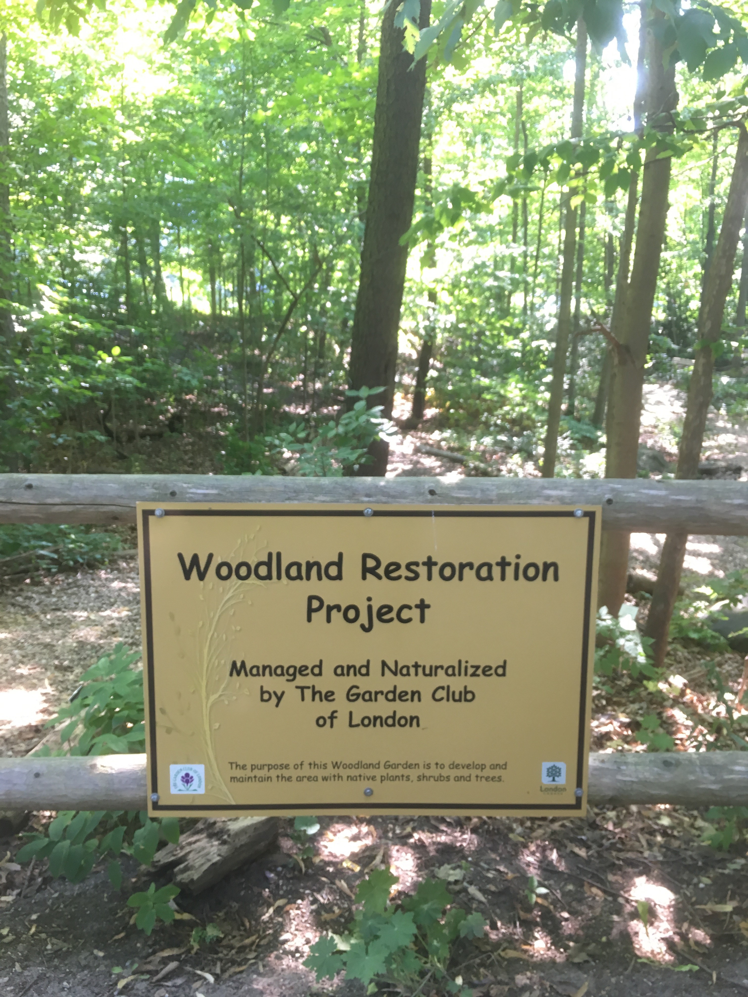 Woodland Restoration Project Plaque