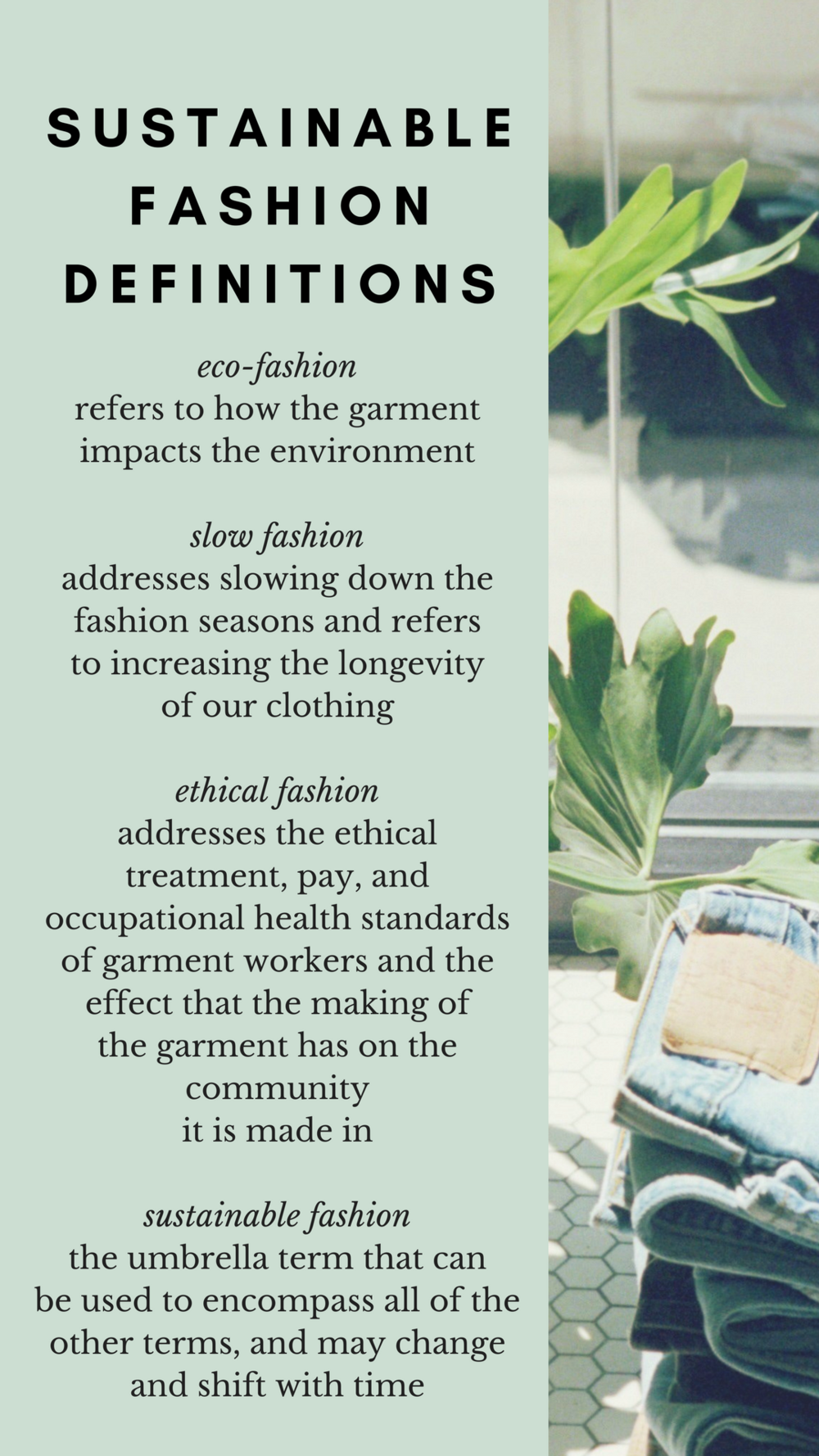 Sustainable Fashion Definitions