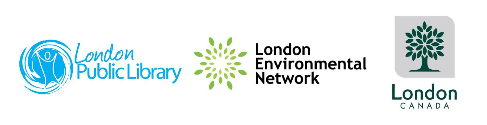 London Public Library, London Environmental Network, and City of London logos