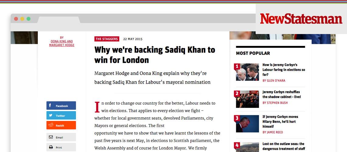 Why We're Backing Sadiq