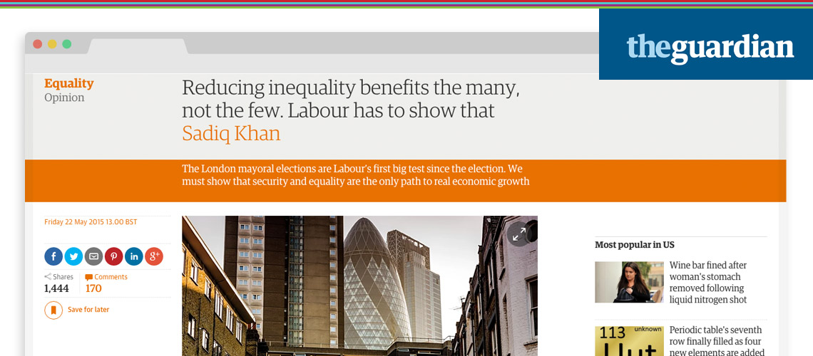 Reducing Inequality Benefits the Many, not the Few