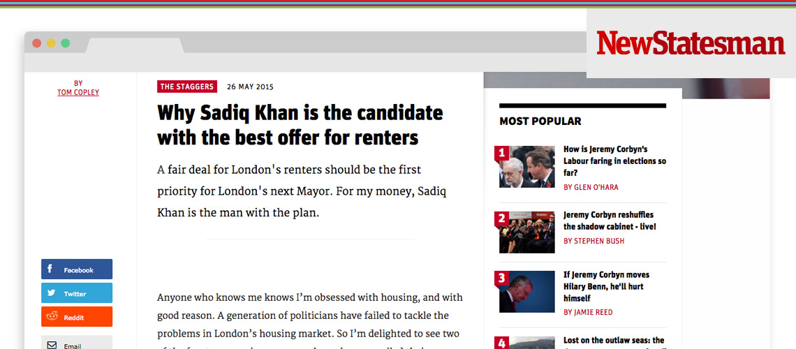 Why Sadiq is the Best Candidate for Renters