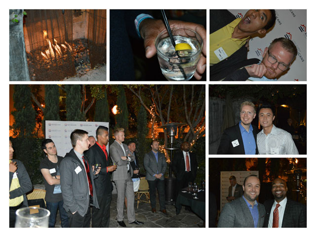 Pictures of people having fun at the last Log Cabin LA Mixer!