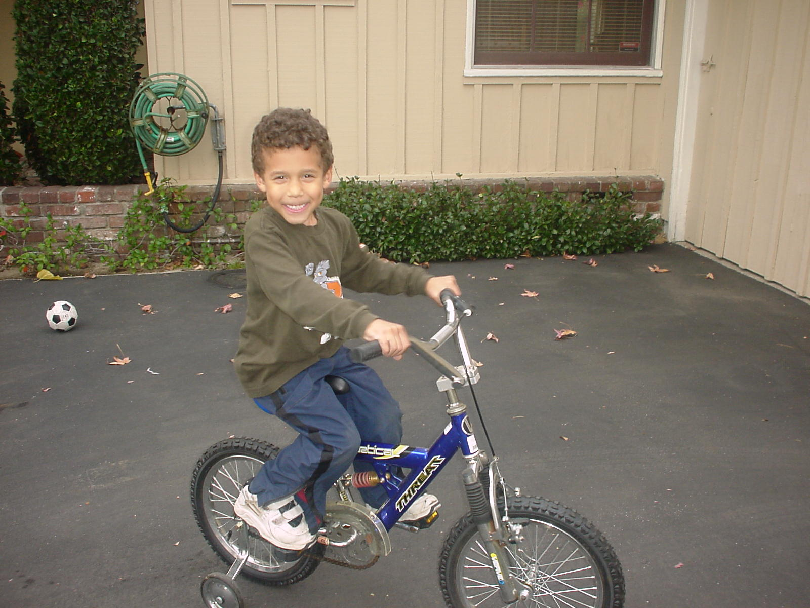 Gabe on a bike