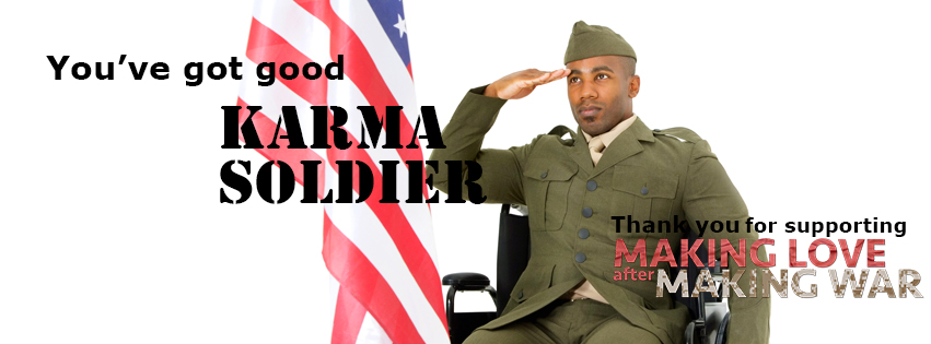 Karma Soldier FB Image of soldier in wheelchair